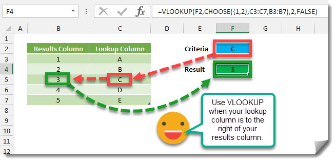 Step-001-How-To-Use-VLOOKUP-When-The-Lookup-Column-Is-Not-First How To Use VLOOKUP When The Lookup Column Is Not First