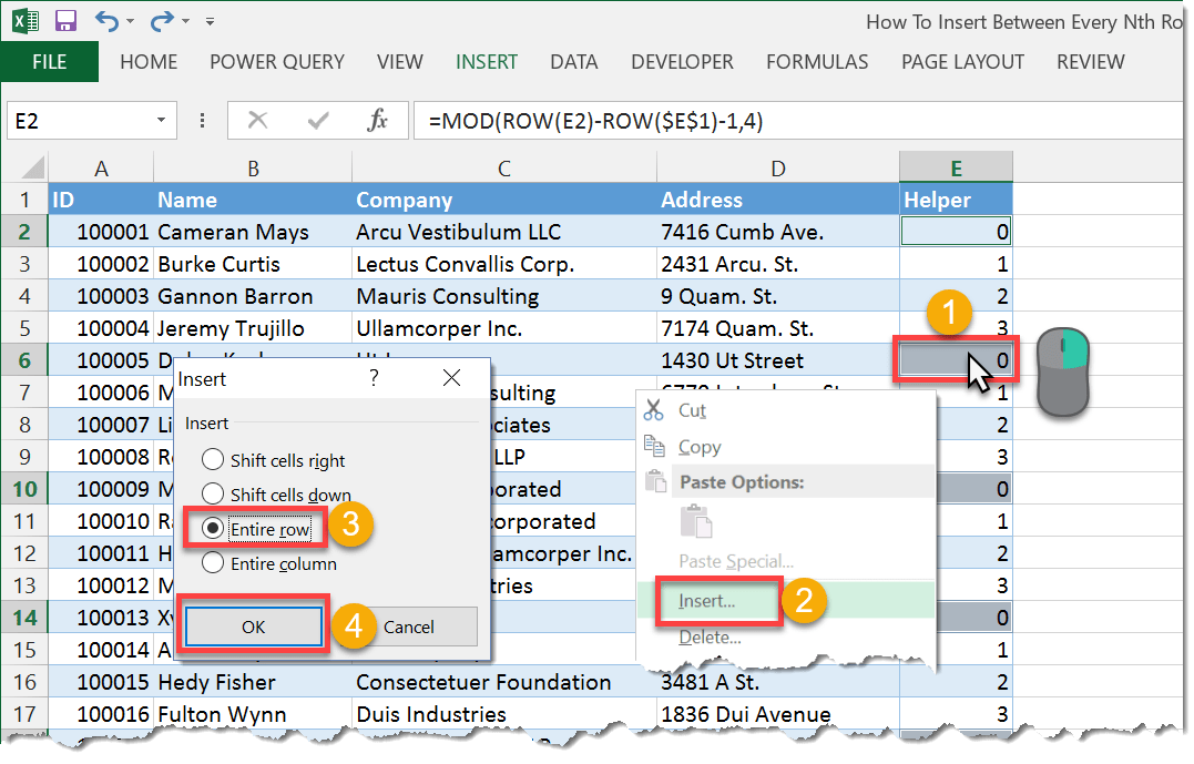 How To Insert Every Nth Row | How To Excel