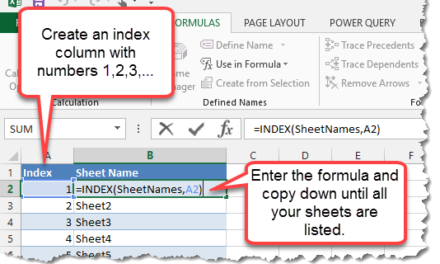 How To Generate A List Of Sheet Names From A Workbook Without VBA
