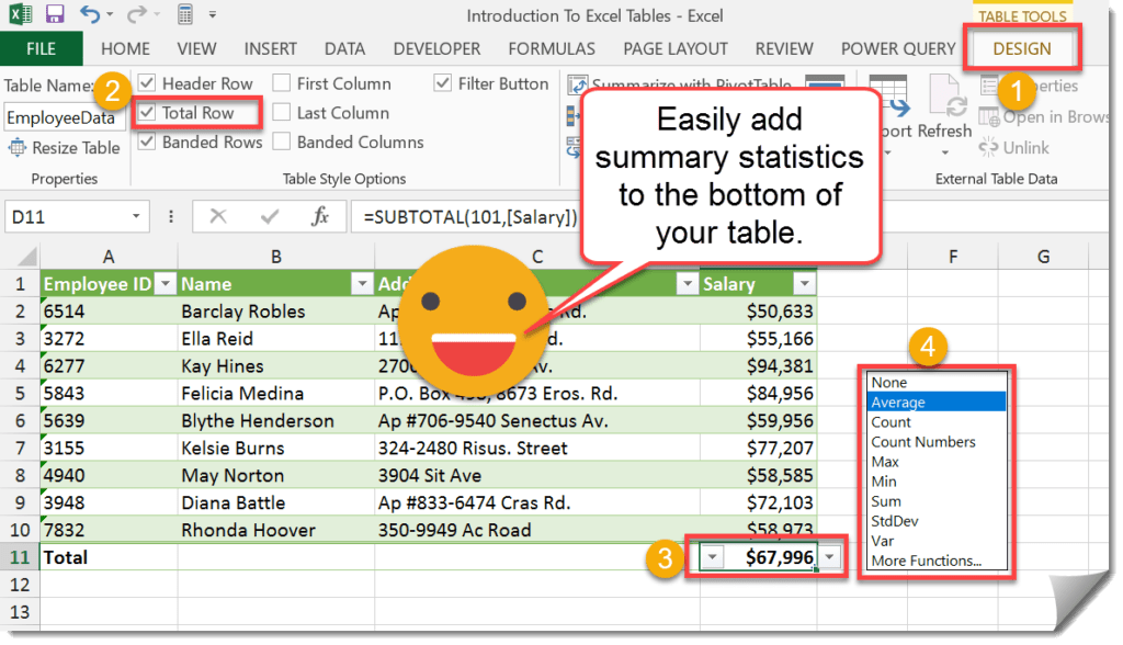 Step-003-Introduction-To-Excel-Tables-Adding-Summary-Statistics-To-Your-Table-1024x588 Excel Tables