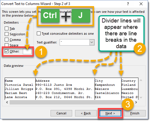 Step-003-How-To-Separate-Data-In-A-Cell-Based-On-Line-Breaks How To Separate Data In A Cell Based On Line Breaks