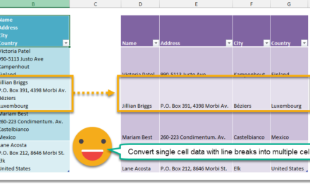 How To Separate Data In A Cell Based On Line Breaks