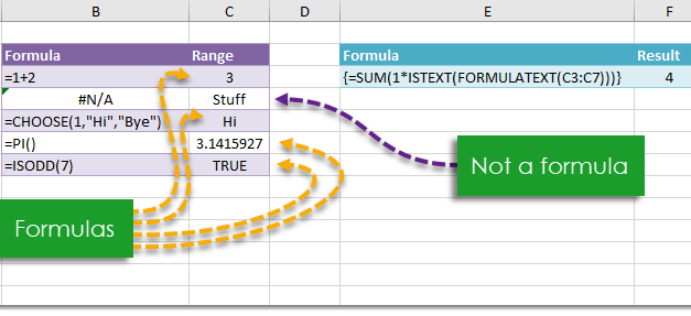 How To Count The Number Of Formulas In A Range