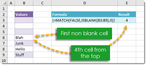 How-To-Find-The-Position-Of-The-First-Non-Blank-Cell-In-A-Range How To Find The Position Of The First Non Blank Cell In A Range