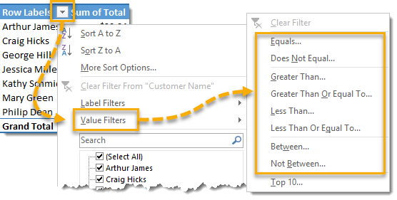 Add-a-Value-Filter-to-Any-Field 101 Advanced Pivot Table Tips And Tricks You Need To Know