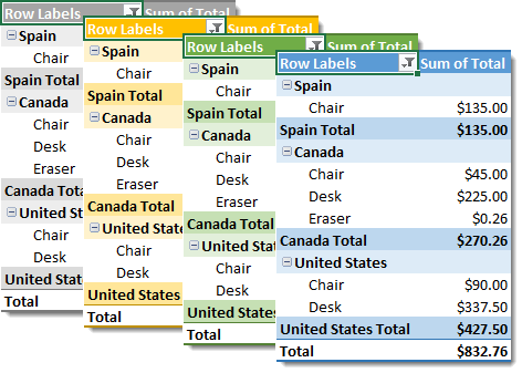 Choose-From-Many-Different-Pivot-Table-Visual-Styles 101 Advanced Pivot Table Tips And Tricks You Need To Know