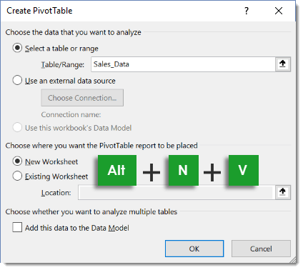 Create-Pivot-Table-Keyboard-Shortcut 101 Advanced Pivot Table Tips And Tricks You Need To Know