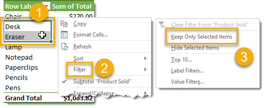 Filter-Keep-Only-Selected-Items 101 Advanced Pivot Table Tips And Tricks You Need To Know