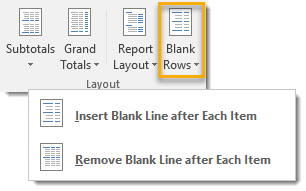 Insert-Blank-Line-After-Each-Item 101 Advanced Pivot Table Tips And Tricks You Need To Know