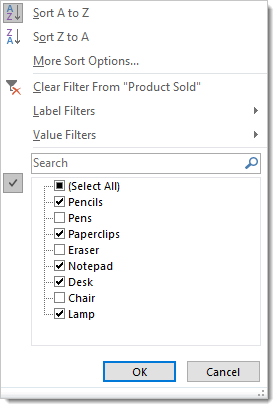 Manually-Filtered-Pivot-Table-Items 101 Advanced Pivot Table Tips And Tricks You Need To Know