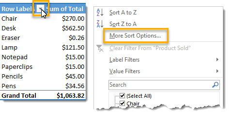 More-Sort-Options-From-the-Filter 101 Advanced Pivot Table Tips And Tricks You Need To Know