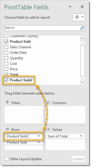 New-Grouped-Field-Item-in-the-PivotTable-Field-List 101 Advanced Pivot Table Tips And Tricks You Need To Know