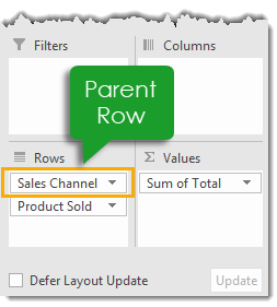 Parent-Row-in-a-Pivot-Table 101 Advanced Pivot Table Tips And Tricks You Need To Know
