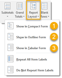 Report-Layout-Options-from-Design-Tab 101 Advanced Pivot Table Tips And Tricks You Need To Know