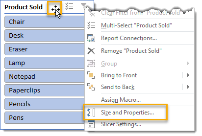 Right-Click-to-Open-Slicer-Size-and-Properties-Settings 101 Advanced Pivot Table Tips And Tricks You Need To Know