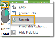 Right-Click-to-Refresh 101 Advanced Pivot Table Tips And Tricks You Need To Know