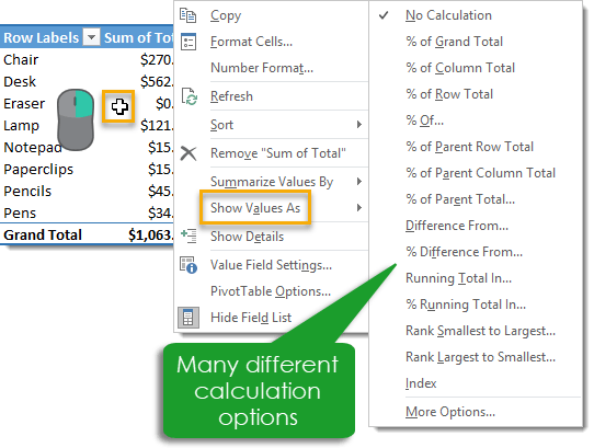 Right-Click-to-Show-Values-As 101 Advanced Pivot Table Tips And Tricks You Need To Know
