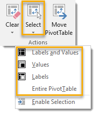 Select-Entire-PivotTable 101 Advanced Pivot Table Tips And Tricks You Need To Know