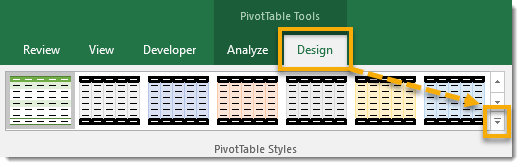 Select-a-PivotTable-Style 101 Advanced Pivot Table Tips And Tricks You Need To Know