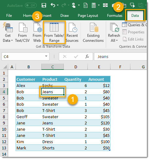 Table-A-Creating-Group-By-Query-Step-1 How To Compare Two Tables Using Get & Transform