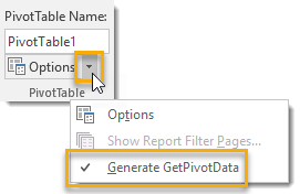 Turn-On-or-Off-Generate-GETPIVOTDATA 101 Advanced Pivot Table Tips And Tricks You Need To Know