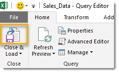 Close-Load-Unpivoted-Data How To Unpivot Data With Power Query