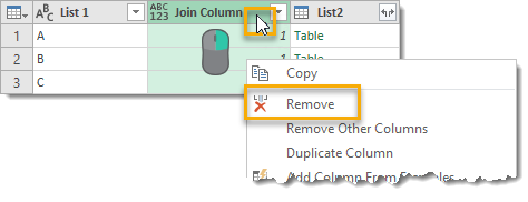 Combination-Of-Items-From-Two-Lists-Delete-Join-Column How To Generate All Possible Combinations Of Items From Two Lists