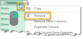 Remove-Content-Column-in-From-Folder-Query How To Get A List Of File Names From A Folder And All Subfolders