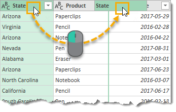 Click-and-Drag-to-Reorder-Columns-in-the-Data-Preview The Complete Guide to Power Query
