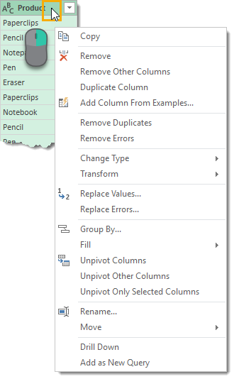 Data-Preview-Column-Right-Click-Transformation-Menu The Complete Guide to Power Query