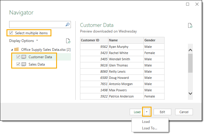 From-Excel-Workbook-Import-Navigator The Complete Guide to Power Query
