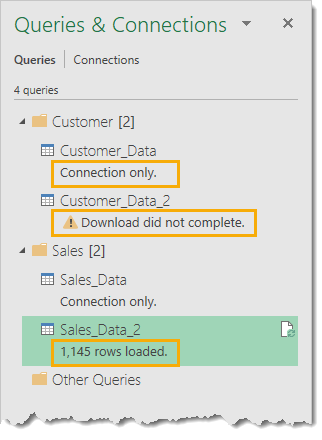MEssages-in-the-Queries-and-Connections-Window The Complete Guide to Power Query