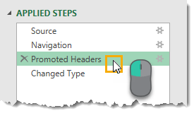 Navigating-Steps-from-the-Applied-Steps The Complete Guide to Power Query