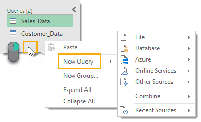Query-List-Right-Click-on-Blank-Area-to-Create-New-Query The Complete Guide to Power Query