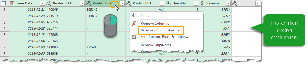 Select-Required-Columns-and-Remove-Others How to Deal with Changing Data Formats in Power Query