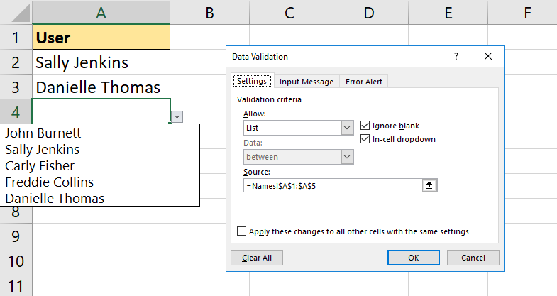 11-Awesome-Examples-of-Data-Validation-dynamic-list 11 Awesome Examples of Data Validation