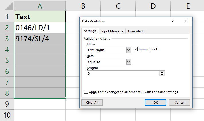 11 Awesome Examples of Data Validation | How To Excel
