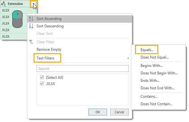 Filter-on-Extension-Column-Text-Filter-Equals How To Get All Sheet Names From All Workbooks In A Folder