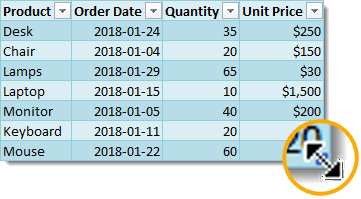 Sizing-Handle-with-Cursor Everything You Need to Know About Excel Tables