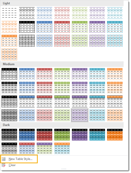 Table-Style-Full-Palette-of-Options Everything You Need to Know About Excel Tables