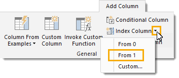 Add-Index-Column-Starting-at-1 Create Grouped Serial Numbers with Power Query