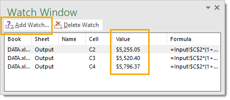 Add-Watch Amazing Excel Tips and Tricks