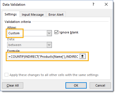 Allow-Custom-Data-Validation Amazing Excel Tips and Tricks