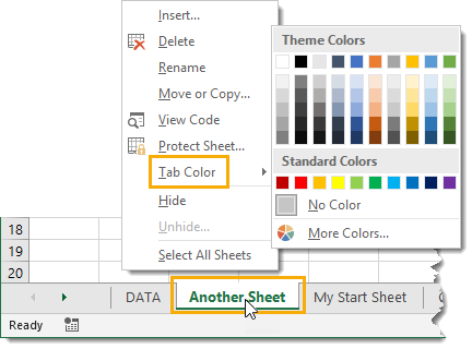 Change-a-Sheet-Tab-Colour Amazing Excel Tips and Tricks