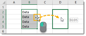 Click-and-Drag-to-Cut-and-Paste Amazing Excel Tips and Tricks