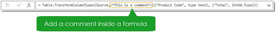 Comment-Inside-a-Formula Amazing Power Query Tips and Tricks