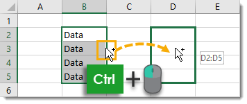 Ctrl-Click-and-Drag-to-Copy-and-Paste Amazing Excel Tips and Tricks