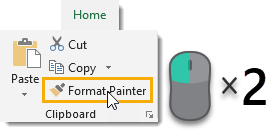 Double-Click-the-Format-Painter Amazing Excel Tips and Tricks