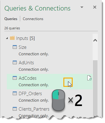 Double-Click-to-Edit-Query 25 Amazing Power Query Tips and Tricks