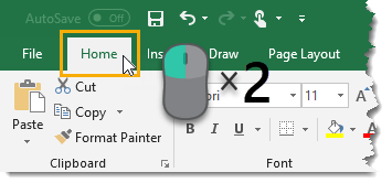 Double-Click-to-Hide-Ribbon-Commands Amazing Excel Tips and Tricks